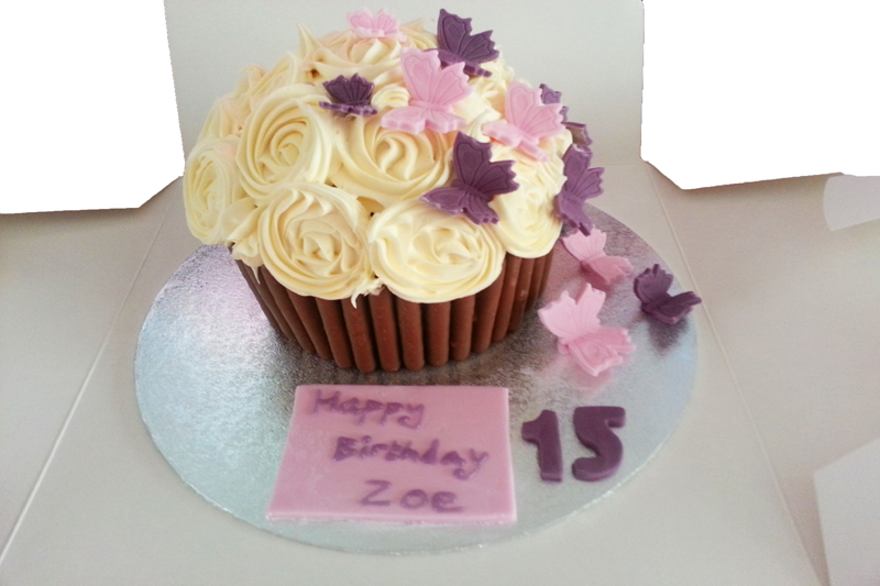 Big Cupcake Images : Giant Cupcake with Butterflies Banbury Cupcakes and more