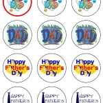 Father's Day Edible Cupcake Toppers
