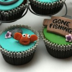 Gone Fishing theme - handmade cupcakes.