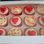 Gift boxed Valentine's Day Cupcakes