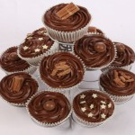 Chocolate Buttercream Swirl Cupcake