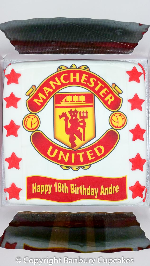 Manchester United Large Birthday Cake Topper