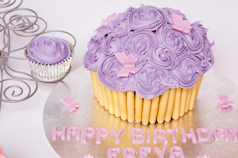 Giant Cupcakes with Butterflies